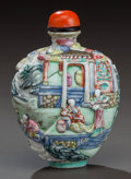 Asian:Chinese, A CHINESE JIAQING PERIOD PORCELAIN SNUFF BOTTLE, early 19thcentury. Marks: (chop marks). 3 inches high (7.6 cm). ...
