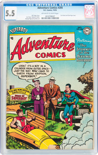 Adventure Comics #205 (DC, 1954) CGC FN- 5.5 Off-white to white pages