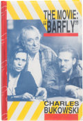 "Movie/TV Memorabilia:Autographs and Signed Items, A Mickey Rourke, Faye Dunaway, and Charles Bukowski Signed Book""The Movie: Barfly,"" 1987...."
