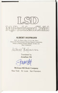 Music Memorabilia:Autographs and Signed Items, Grateful Dead Related - Albert Hofmann Signed Book LSD MyProblem Child (McGraw-Hill, 1980)....