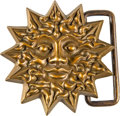 "Music Memorabilia:Autographs and Signed Items, Grateful Dead ""Sun Face"" Belt Buckle by Owsley ""Bear"" Stanley(1995)...."