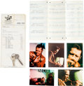 Music Memorabilia:Documents, Chet Baker Documents and Tour Memorabilia....