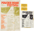 Music Memorabilia:Posters, Powder Ridge Festival Poster, Flyer, and Two Tickets (1970).... (Total: 4 Items)