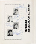 Music Memorabilia:Autographs and Signed Items, The Beatles and Roy Orbison Signed Tour Book from May-June 1963 UKTour with Early Beatles' Fan Club Welcome Letter. ... (Total: 2Items)