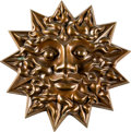 """Music Memorabilia:Autographs and Signed Items, Grateful Dead """"Sun Face"""" Medallion by Owsley """"Bear"""" Stanley (c.1995)...."""