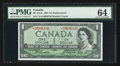 Canadian Currency: , BC-37aA $1 1954 Modified Portrait.. ...