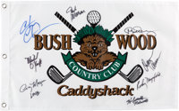 A Cast Signed Golf Flag from Caddyshack and Caddyshack II (