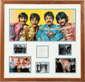 Music Memorabilia:Autographs and Signed Items, Beatles Autographs With Photo Display (1960s)....