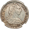 Chile, Chile: Charles IV 8 Reales 1790 So-DA XF45 NGC,...