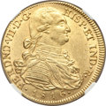 Colombia, Colombia: Ferdinand VII gold 8 Escudos 1816 NR-JF AU55 NGC,...