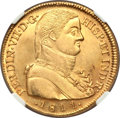 Chile, Chile: Ferdinand VII gold 8 Escudos 1811 So-FJ UNC Details(Excessive Surface Hairlines) NGC,...