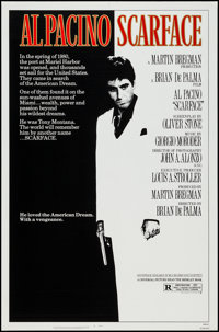 "Scarface (Universal, 1983). One Sheet (27"" X 41""). Crime"