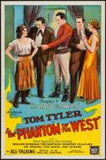 "Movie Posters:Serial, The Phantom of the West (Mascot, 1931). One Sheet (27"" X 41"") Chapter 5 -- ""The League of the Lawless."" Serial.. ..."