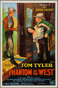 """The Phantom of the West (Mascot, 1931). One Sheet (27"""" X 41"""") Chapter 9 """"The Fatal Secret."""" Serial..."""