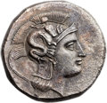 Ancients:Greek, Ancients: LUCANIA. Thurium. Ca. 350-300 BC. AR distater (26mm,15.46 gm, 3h)....