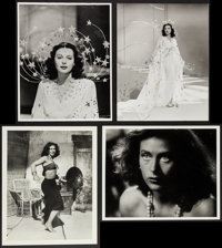 """Hedy Lamarr in Ziegfeld Girl & Other Lot (MGM, 1941). Photos (3) & Reprint Photo (11"""" X 14"""")..."""