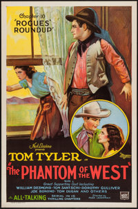 """The Phantom of the West (Mascot, 1931). One Sheet (27"""" X 41"""") Chapter 10 -- """"Rogues Roundup."""" Serial..."""