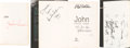 Music Memorabilia:Autographs and Signed Items, Beatles - Cynthia Lennon's Book John Signed by the Author,Julian Lennon, Paul McCartney, and Others (London: Hodd...