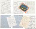 Movie/TV Memorabilia:Autographs and Signed Items, A Katharine Hepburn Collection of Fascinating, Never-Before-SeenHandwritten Letters, 1950s-1980s....