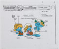 Animation Art:Production Cel, The Smurfs Color Model Cel Animation Art (Hanna-Barbera,1987)....
