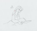 Animation Art:Production Drawing, Beauty and the Beast Belle Production Drawing Animation Art(Walt Disney, 1991)....