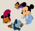 Animation Art:Production Cel, Baby Mickey Mouse, Donald, Goofy, and Minnie Production Cel andDrawing Animation Art Group (Walt Disney, 1990s).... (Total: 8Original Art)