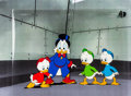 Animation Art:Production Cel, DuckTales Scrooge McDuck, Huey, Louie, and Dewey DuckProduction Cel Animation Art Setup (Walt Disney, 1987).... (Total:4 Original Art)