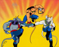 Animation Art:Seriograph, Biker Mice From Mars Serigraph Animation Art (MarvelProductions Ltd., 1993)....
