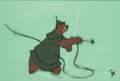 Animation Art:Production Cel, Robin Hood Little John Production Cel Animation Art (WaltDisney, 1973)....