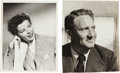 Movie/TV Memorabilia:Autographs and Signed Items, A Katharine Hepburn and Spencer Tracy Pair of Signed Black and White Photographs, Circa 1944.... (Total: 2 Items)