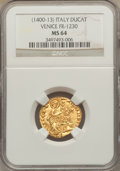 Italy, Italy: Venice. Michele Steno (1400-13) gold Ducat ND MS64 NGC,...