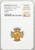 Ancients:Byzantine, Ancients: Maurice Tiberius (AD 582-602). AV tremissis (1.47 gm). ...