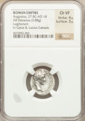 Ancients:Roman Imperial, Ancients: Augustus (27 BC-AD 14). AR denarius (3.88 gm)....