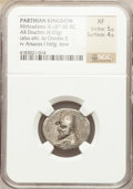 Ancients:Oriental, Ancients: PARTHIAN KINGDOM. Mithradates III (ca. 87-80 BC). AR drachm (4.03 gm). NCG XF 5/5 - 4/5...