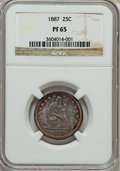Proof Seated Quarters: , 1887 25C PR65 NGC. NGC Census: (43/47). PCGS Population (35/29).Mintage: 710. Numismedia Wsl. Price for problem free NGC/P...