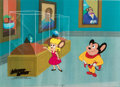 Animation Art:Production Cel, The New Adventures of Mighty Mouse and Heckle and JecklePearl Pureheart Production Cel Animation Art Setup (Filmation...(Total: 3 Original Art)