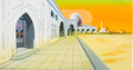 Animation Art:Production Cel, 1001 Rabbit Tales Background Animation Art (Warner Brothers,1982)....