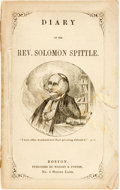 Books:Americana & American History, [Rev. George Trask and Lucius M. Sargent]. Diary of Rev. SolomonSpittle. Boston: William White, [n.d., circa 18...
