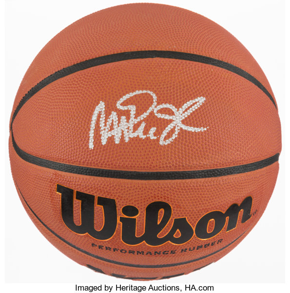 save off f1ed0 6d395 Magic Johnson Signed Basketball.... Basketball Collectibles ...