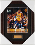 Basketball Collectibles:Others, Magic Johnson Great Western Forum Floor Piece Display. ...