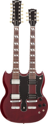 Mötley Crüe - Jimmy Page, Mick Mars, and John Corabi-Owned and Played Gibson Double Neck Guitar S# 90432716.&a...
