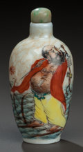 Asian:Chinese, A CHINESE PORCELAIN SNUFF BOTTLE, early 20th century. Marks: (chopmarks). 3 inches high (7.6 cm). ...