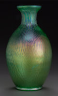 Art Glass:Other , A BOHEMIAN IRIDESCENT GLASS SPIDERWEB VASE. Circa 1900. 14-1/2inches high (36.8 cm). ...