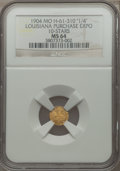 Expositions and Fairs, 1904 Louisiana Purchase Exposition, 1/4 Louisiana Gold, 10 Stars,MS64 NGC. Hendershott-61-310.. From The J.S. Morgan Coll...