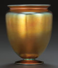 Art Glass:Steuben, STEUBEN GLASS GOLD AURENE VASE. Circa 1920, Engraved: aurene, 938, STEUBEN (original sticker), . 7-1/8 inches high (18.1...