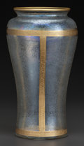 Art Glass:Other , HONESDALE ETCHED GLASS AND GILT VASE. Circa 1900. 9-1/4 inches high(23.5 cm). ...