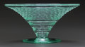 Art Glass:Daum, DAUM GLASS COMPOTE. Circa 1900, Engraved: DAUM, NANCYFRANCE, with a cross of Lorraine. 3-5/8 inches high x 7-1/2inches...