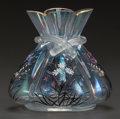 Art Glass:Other , HECKERT ENAMELED GLASS CABINET VASE. Circa 1910, Enameled: FH,4306. 1.. 4-1/4 inches high (10.8 cm). ...