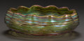 Art Glass:Loetz, AUSTRIAN IRIDESCENT GLASS BOWL, ATTRIBUTED TO LOETZ, circa 1900.2-1/2 inches high x 8-1/4 inches diameter (6.4 x 21.0 cm). ...