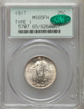 Standing Liberty Quarters: , 1917 25C Type One MS65 Full Head PCGS. CAC. PCGS Population(1037/487). NGC Census: (731/385). Mintage: 8,740,000. Numismed...